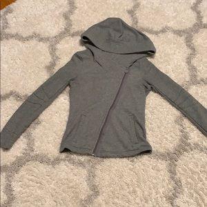 Puma Gray crossbody zip up hoodie